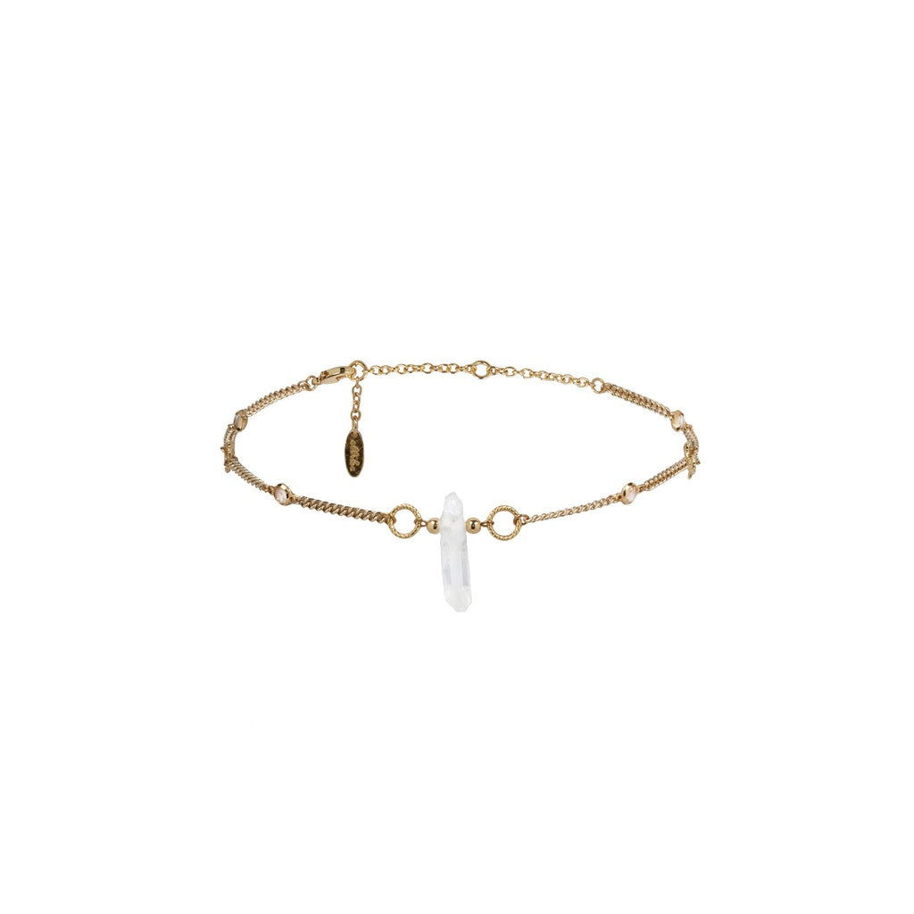 Crystal Choker in Gold