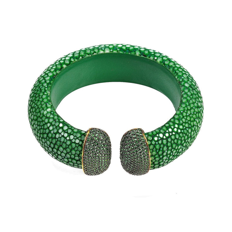 Stingray Cuff Gold - Jade (Green)