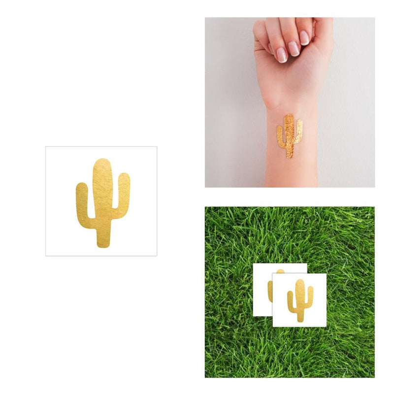 2 PACK Cactus Tattoo