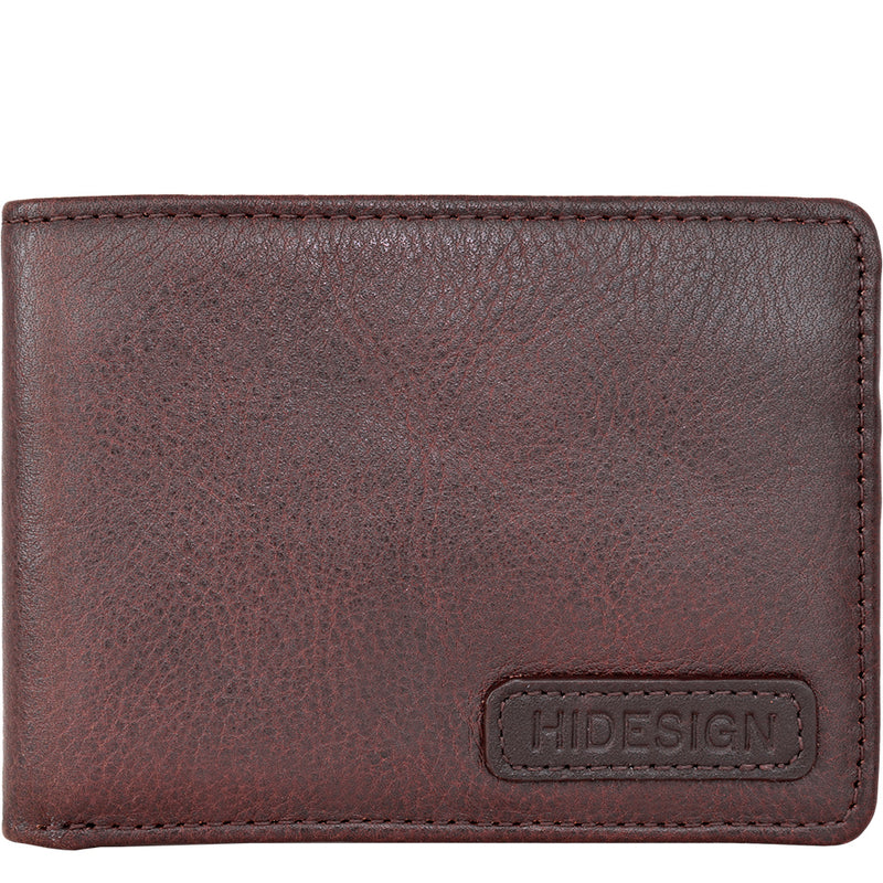 Hidesign Charles Compact Thin Leather Wallet with Coin Pocket