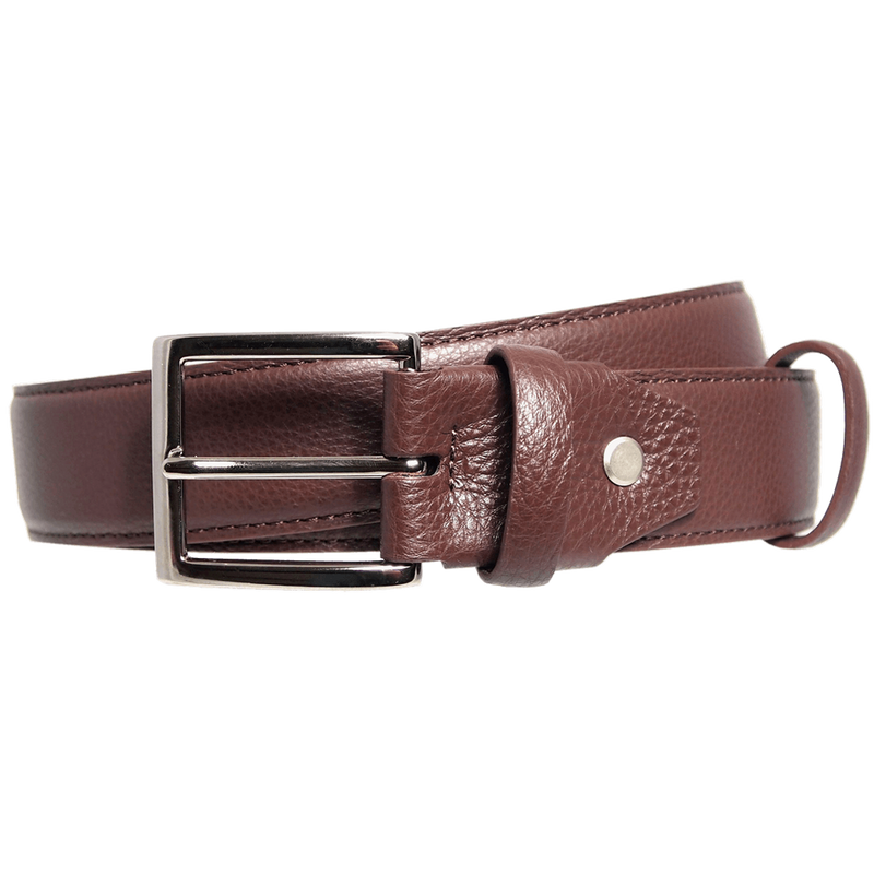 Duo Ply Calf Leather Belt Brown