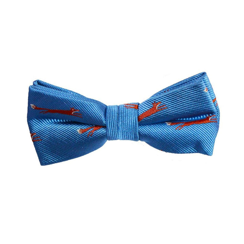 Fox Bow Tie - Blue, Woven Silk, Pre-Tied for Kids