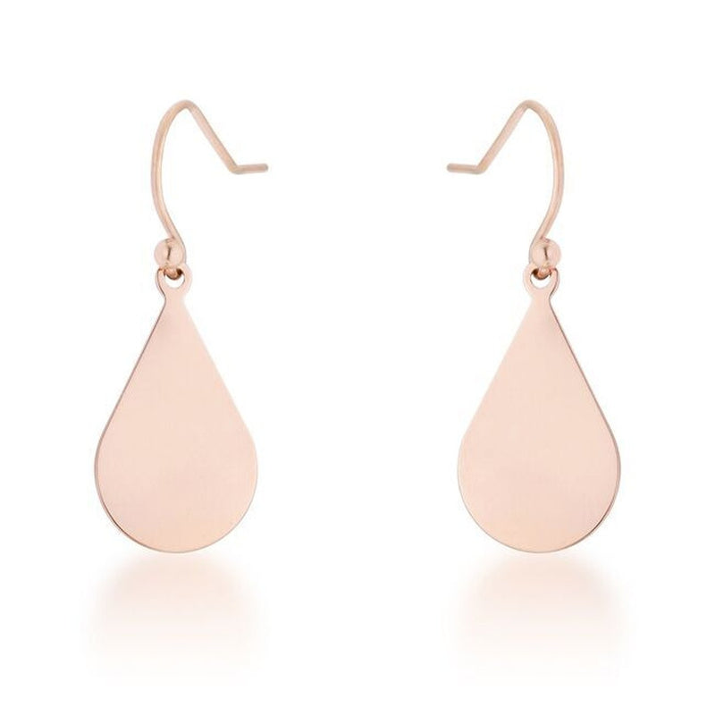 Rose Gold Classic Teardrop Earrings
