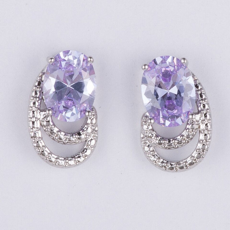 Purple Crystal Earrings