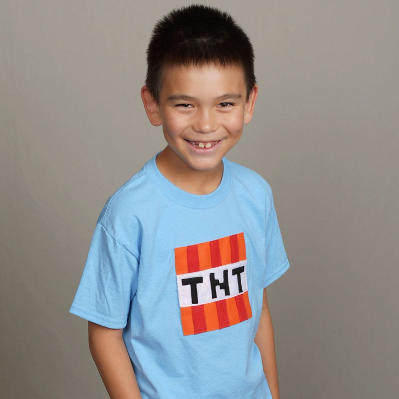 TNT - Minecraft Inspired - Kids Light Blue T-Shirt