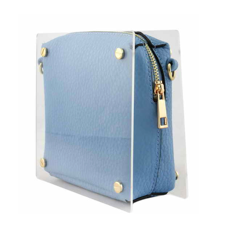 Clear Layered Blue Purse