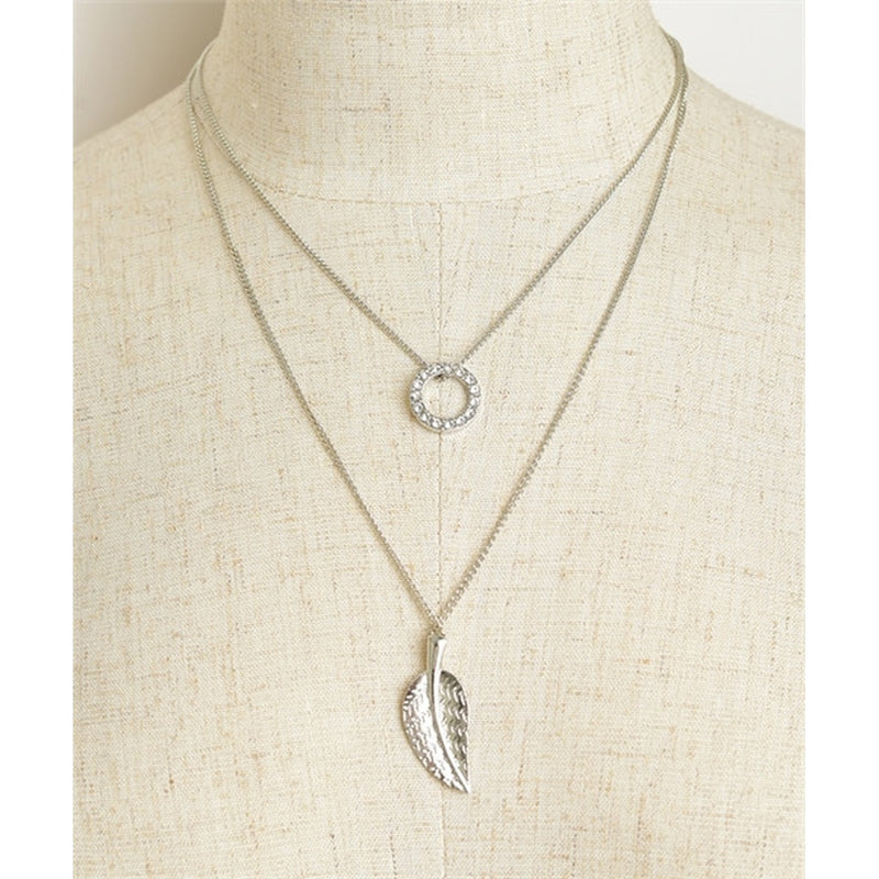 Woman's Necklace Two Piece Leaf Chain Necklace