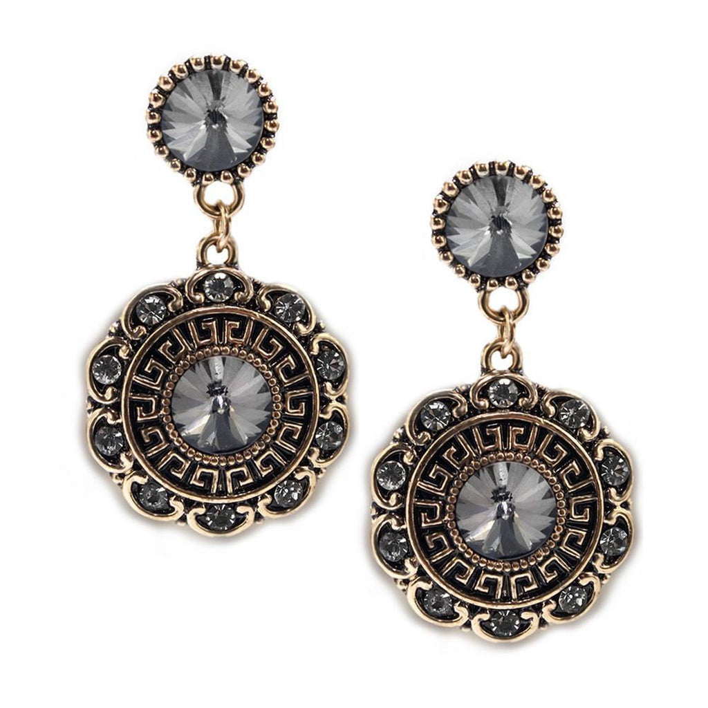 Bloom Earrings-Charcoal