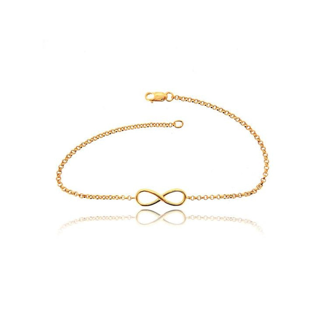 INFINITY YELLOW GOLD CHAIN BRACELET