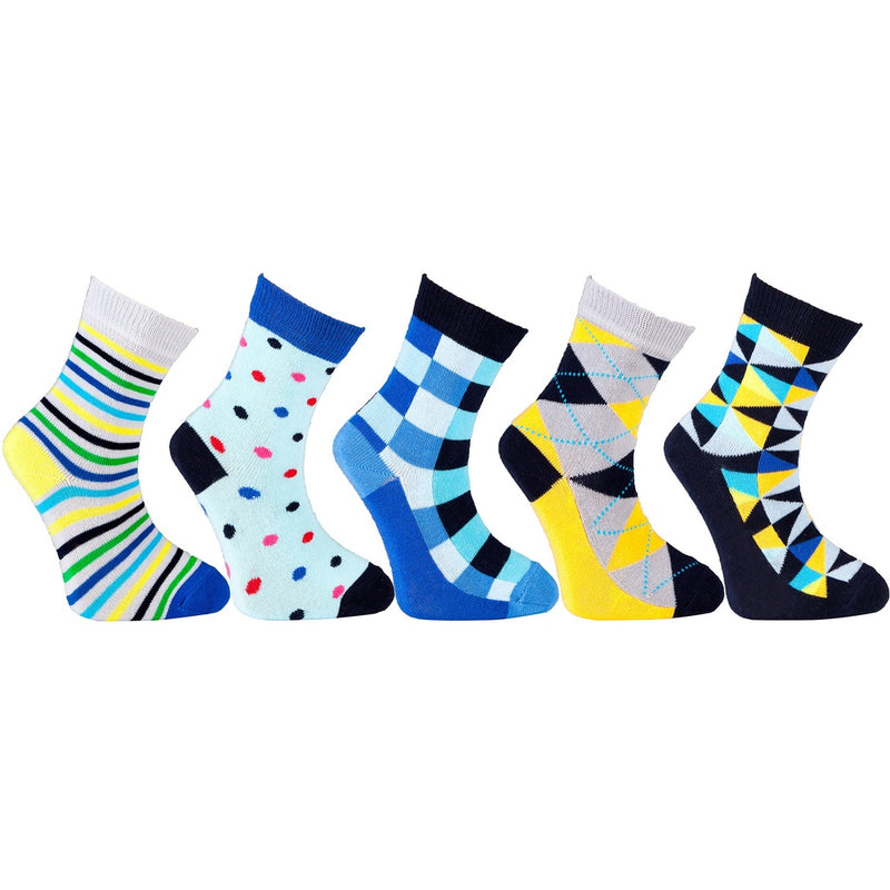 Kid's 5-pairs Funky Mix Socks