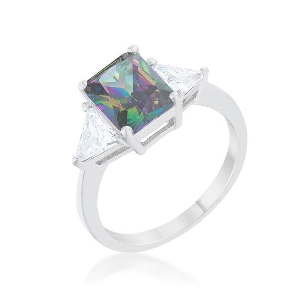 Mystic CZ Sterling Silver Ring