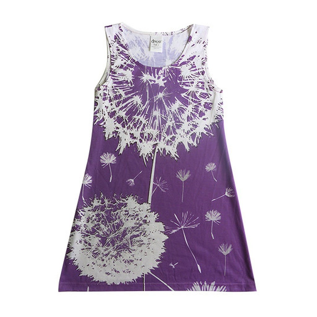 Dandelion on purple - girls dress