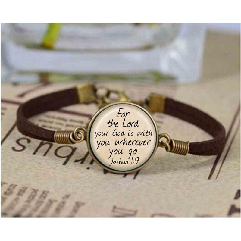 Qiyufang I love Christian Inspirational Jesus bracelet Faith Bible charm men women leather bangle best friends gift bracelets