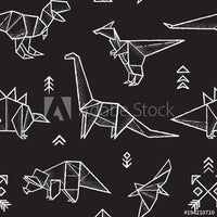 Origami Dinos (Low Back Rompers)