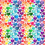Rainbow Watercolour Hearts (Sweater)