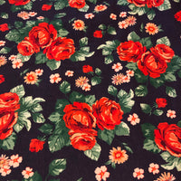 Roses on Navy (Cardigan)