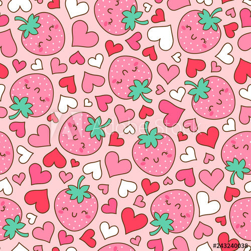 Happy Strawberries (Low Back Rompers)