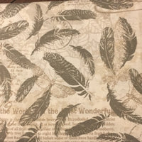 Newspaper Feathers (Booties)