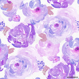 Purple Watercolour Floral (Romper)