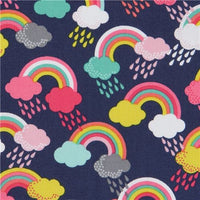 Rainbows on Navy (Accessories)