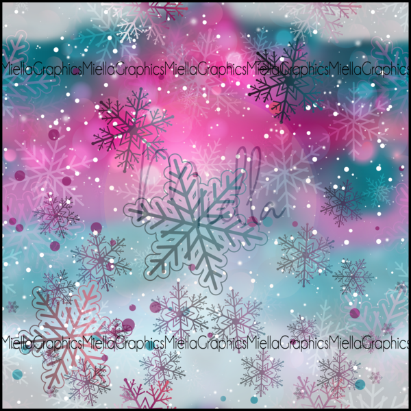 Watercolour Snowflakes (Low Back Rompers)