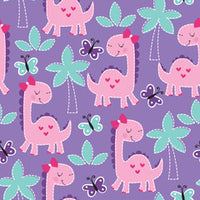 Girly Dinos (Low Back Rompers)