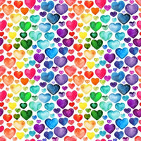 Watercolour Rainbow Hearts (Pants)