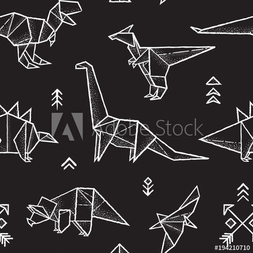 Origami Dinos (Sleeveless Dress)