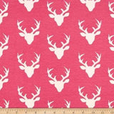 Hot Pink Deer (Low Back Rompers)