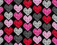 Black Crystal Hearts (Accessories)