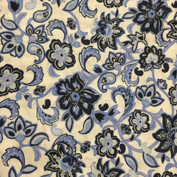 Blue Paisley Floral (Accessories)