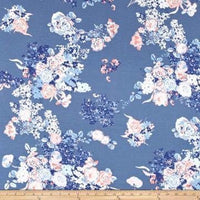 Blue Blossoms (Low Back Rompers)