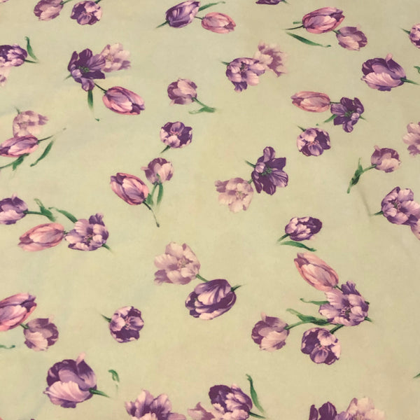 Lavender Floral on Mint (Pants)