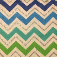 Blue Green Sparkle Chevron (Accessories)