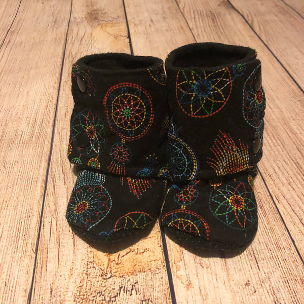Size 5 Dreamcatchers on Black Booties
