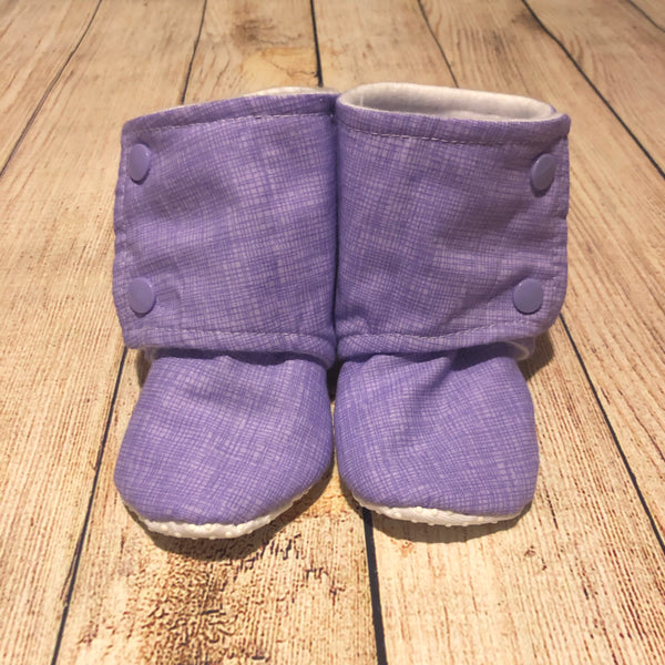 Size 6 Purple Sketch Booties