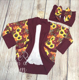 Fall Sunflowers (Cardigan)