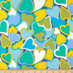 Green Blue Hearts (Booties)