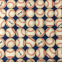 Baseballs on Navy (Accessories)