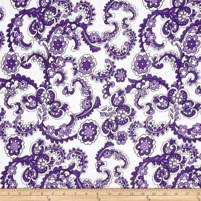 Purple Paisley (Low Back Rompers)