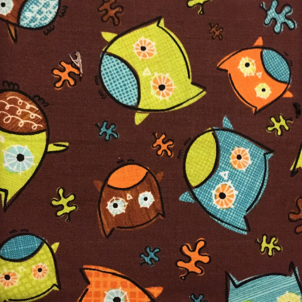 Owls on Brown (Booties)