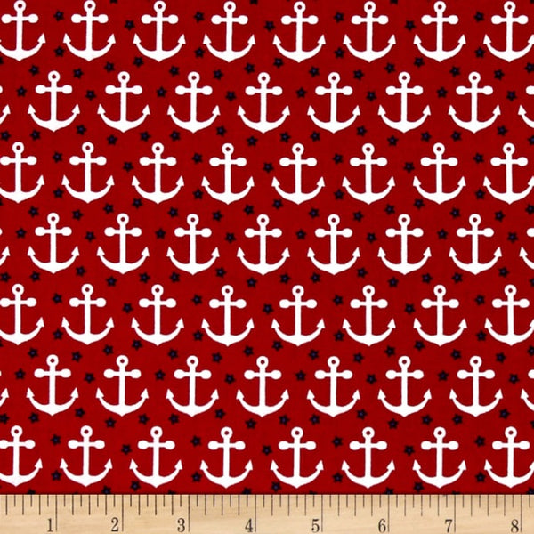 Red Anchors (Booties)