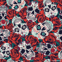 Rose Sugar Skulls (Sleeveless Dress)
