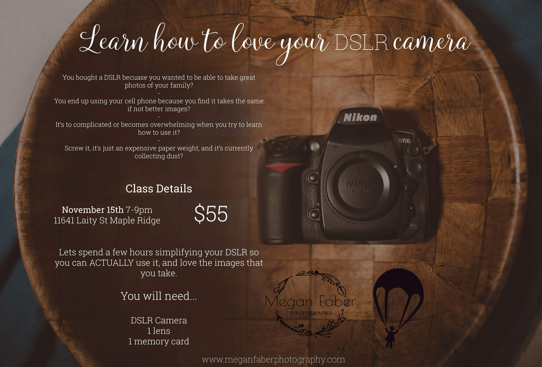 Photography Workshop - Nov. 15