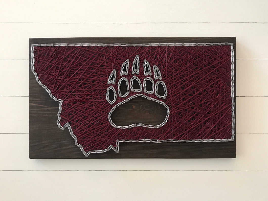 Montana Grizzlies String Art
