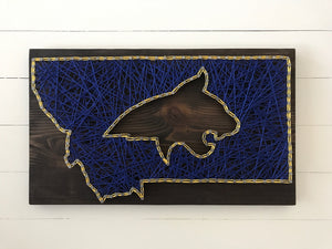 Montana Bobcat String Art