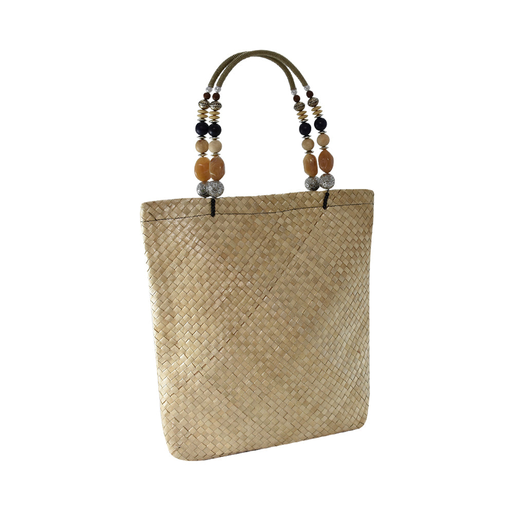 Tote Bag with Bejeweled Handle