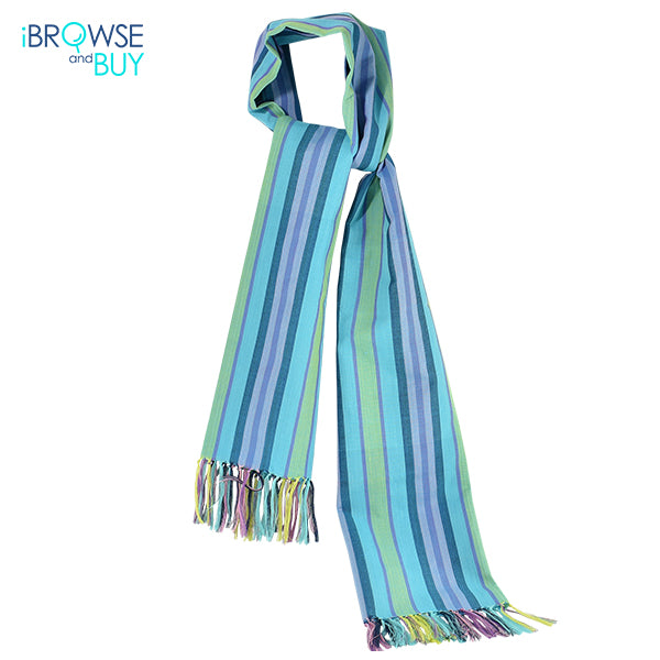 Shawl  - Aqua Striped