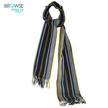 Shawl  - Navy Blue Striped