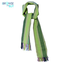 Shawl  - Lime Green Striped